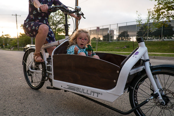 Cargo bikes are great for moving kids too!