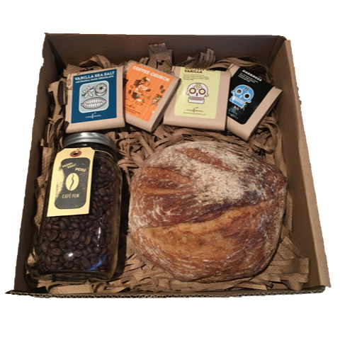 Coffee, Chocolate and Fresh Baked Bread Gift Box