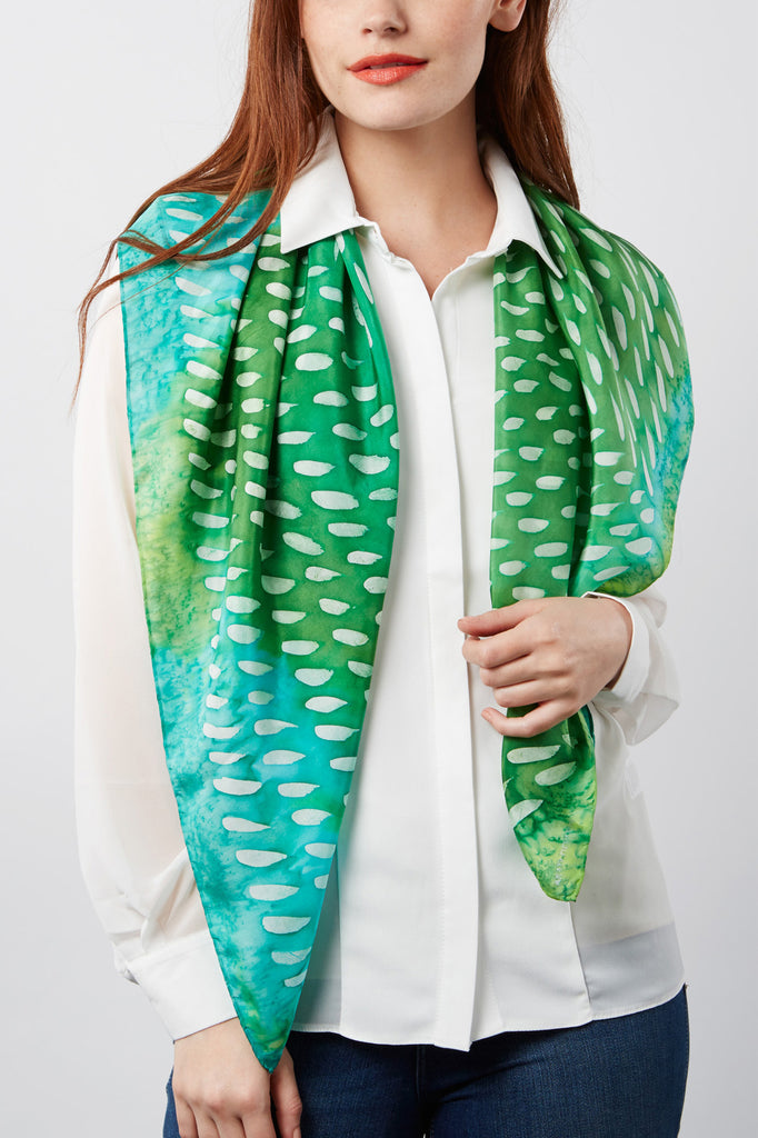 Geometric silk scarf collection - Arati Devasher, London.
