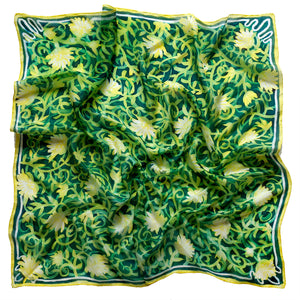 A Walled Garden scarf - Secret Garden collection - Arati Devasher: Painted Silk Accessories - Scarf - 1