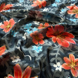 A Winter Garden scarf - Secret Garden collection - Arati Devasher: Painted Silk Accessories - Scarf - 2