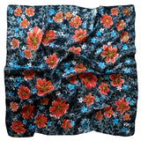A Winter Garden scarf - Secret Garden collection - Arati Devasher: Painted Silk Accessories - Scarf - 1