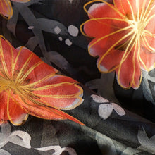 Load image into Gallery viewer, A Winter Garden scarf - Secret Garden collection - Arati Devasher: Painted Silk Accessories - Scarf - 3
