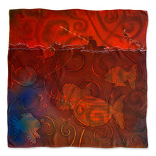 Load image into Gallery viewer, Fish the Deeps scarf - Arati Devasher: Painted Silk Accessories - Scarf - 1