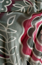 Load image into Gallery viewer, Silver Rose scarf - Secret Garden collection - Arati Devasher: Painted Silk Accessories - Scarf - 1