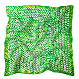 A Dash of Lime scarf - Arati Devasher: Painted Silk Accessories - Scarf - 1