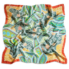 Load image into Gallery viewer, Peaceful Paisleys scarf - Arati Devasher: Painted Silk Accessories - Scarf - 1