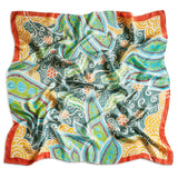 Peaceful Paisleys scarf - Arati Devasher: Painted Silk Accessories - Scarf - 1