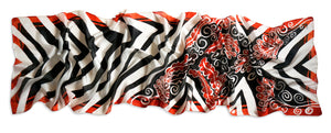 Floral Directions scarf - Arati Devasher: Painted Silk Accessories - Scarf - 2