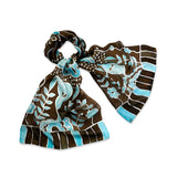 Watered Earth scarf - Secret Garden collection - Arati Devasher: Painted Silk Accessories - Scarf - 4