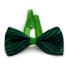 Load image into Gallery viewer, Grunge Green bow tie