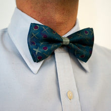 Load image into Gallery viewer, XoXo bow tie - Arati Devasher: Painted Silk Accessories - Bow Tie - 1