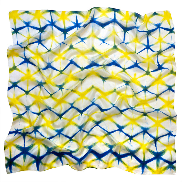 A Sunshine Day scarf - Shibori collection - Arati Devasher: Painted Silk Accessories - Scarf - 1