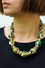 Load image into Gallery viewer, Camouflage necklace - Arati Devasher: Painted Silk Accessories - Necklace - 2