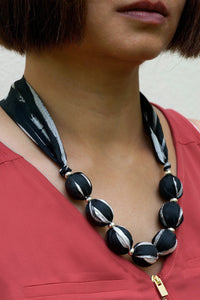 Classique necklace - Arati Devasher: Painted Silk Accessories - Necklace - 2