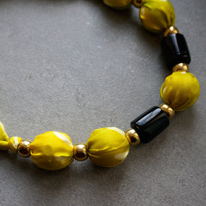 Lemonade necklace - Arati Devasher: Painted Silk Accessories - Necklace - 4