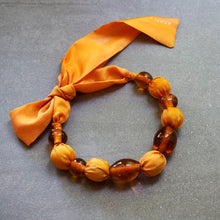 Load image into Gallery viewer, Sunrise necklace - bespoke - Arati Devasher: Painted Silk Accessories - Necklace - 1