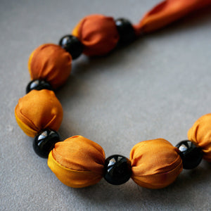 Sunset necklace - Arati Devasher: Painted Silk Accessories - Necklace - 4