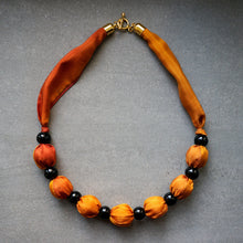 Load image into Gallery viewer, Sunset necklace - Arati Devasher: Painted Silk Accessories - Necklace - 3