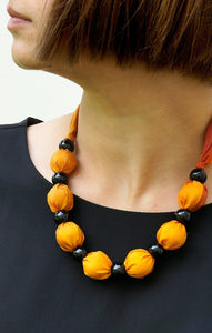 Sunset necklace - Arati Devasher: Painted Silk Accessories - Necklace - 2