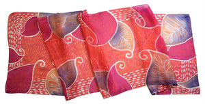 Peachy Paisleys scarf - Arati Devasher: Painted Silk Accessories - Scarf - 2