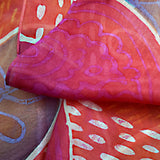 Peachy Paisleys scarf - Arati Devasher: Painted Silk Accessories - Scarf - 4