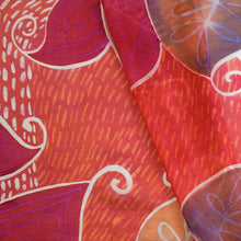 Load image into Gallery viewer, Peachy Paisleys scarf - Arati Devasher: Painted Silk Accessories - Scarf - 1