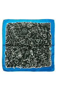Winter silk kerchief 45cm