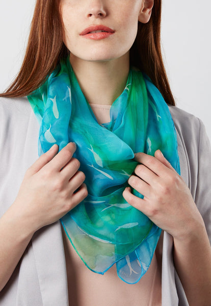 Flitting Fish scarf