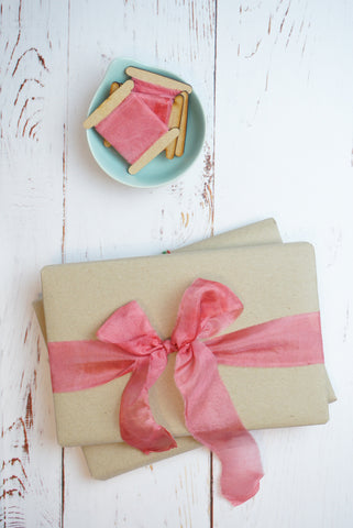 Pink silk ribbon