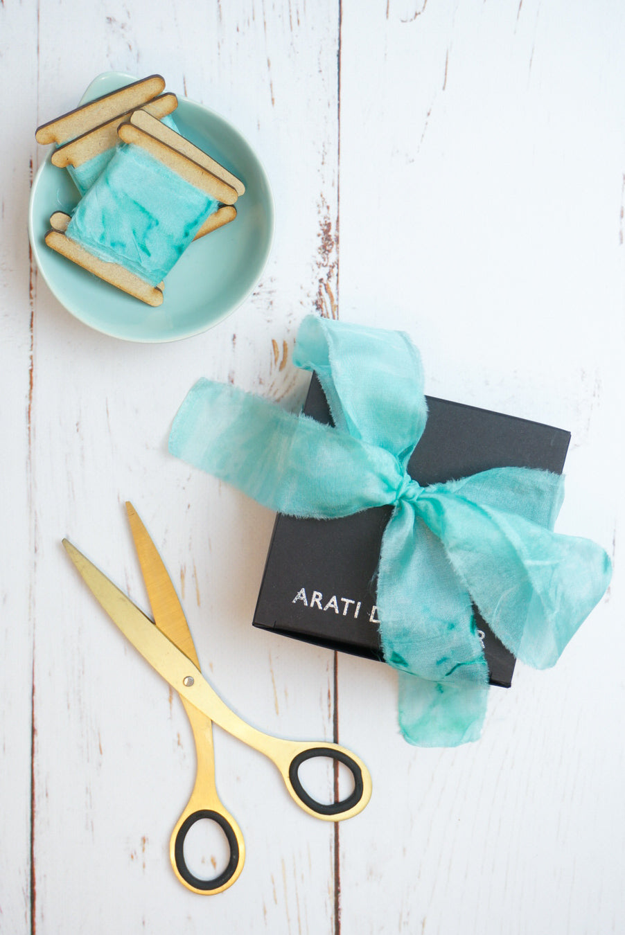 Mint Green silk ribbon
