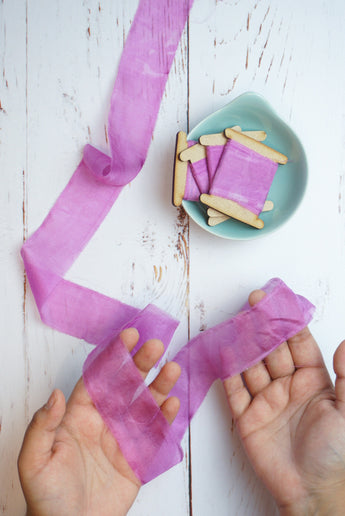 Lilac silk ribbon