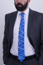 Load image into Gallery viewer, Blue Angles silk tie