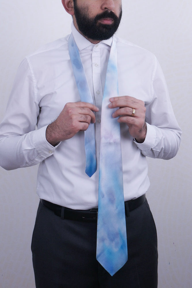 Clear Skies silk tie