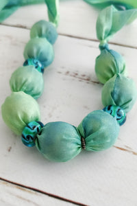 Lime Murano necklace