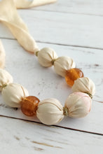 Load image into Gallery viewer, Peachy pink fabric bead necklace