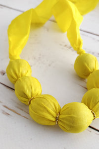 Daffodil ribbon necklace