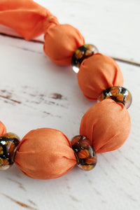 Orange Murano necklace