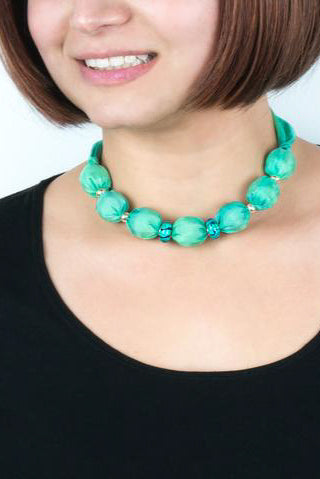Turquoise Murano necklace