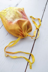 Yellow Sunset drawstring bag