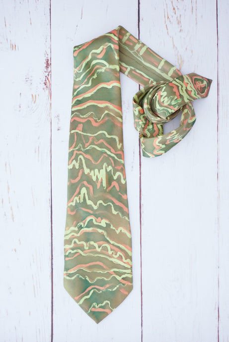 Autumn Rhythms silk tie