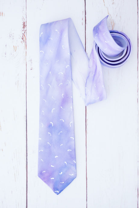 Watercolour Lilac tie
