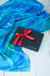 Coastal Fish silk scarf