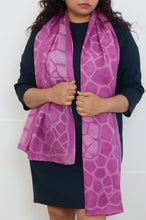 Load image into Gallery viewer, Amethyst silk scarf