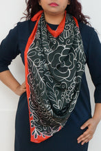Load image into Gallery viewer, Autumn silk scarf