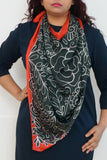 Autumn silk scarf