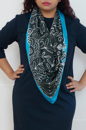 Winter silk scarf