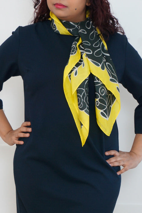 Summer silk scarf