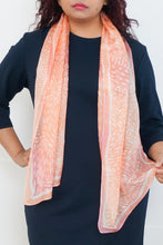 Load image into Gallery viewer, Salmon Run silk scarf