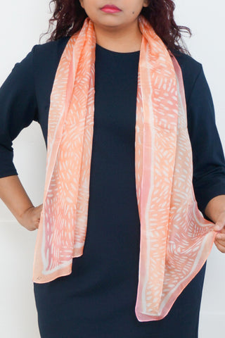 Salmon Run silk scarf